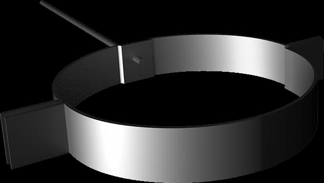 Objímka zvodovej rúry s kombiskrutkou