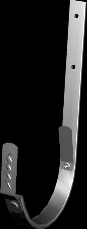 Žľabový hák s plieskom